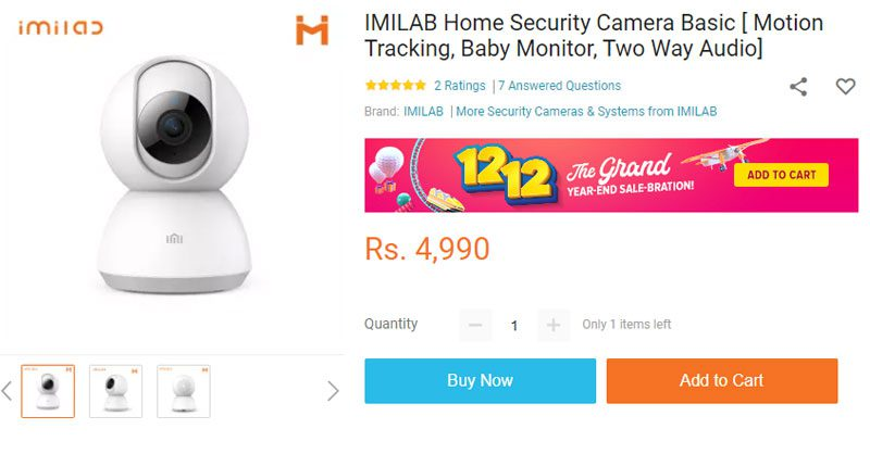 imilab security cam price in nepal