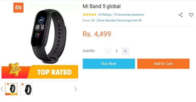 mi band 5 price in nepal