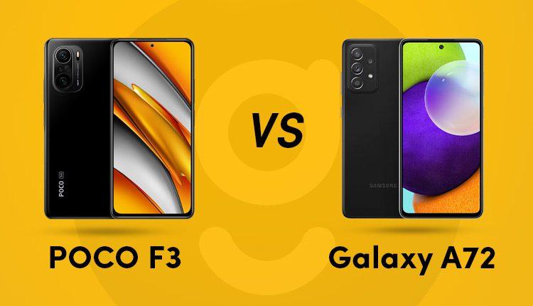 galaxy a72 vs poco f3