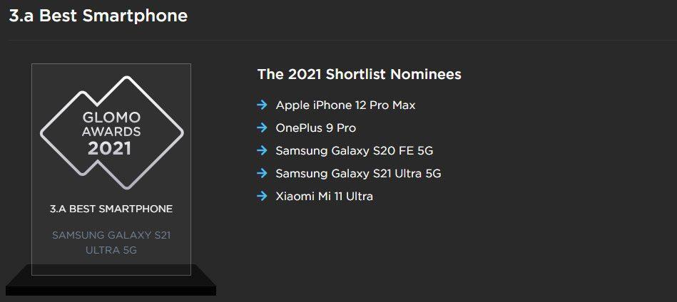 GLOMO 2021 Galaxy S21 Ultra