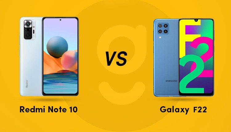 Redmi note 10 vs galaxy f22