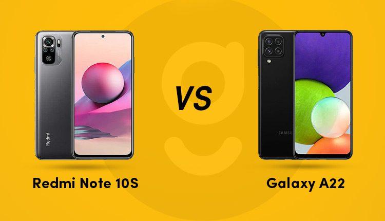 Redmi Note 10S Vs Samsung Galaxy A22
